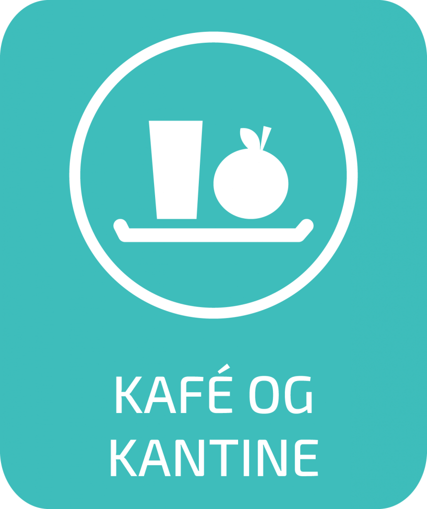 Illustrasjon med icon for Kafe og kantine